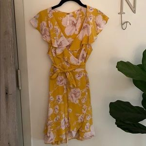 Free People Floral Wrap Dress
